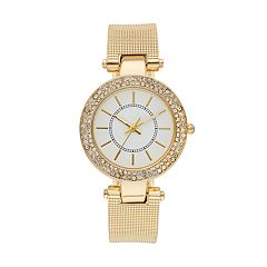 Women's Crystal Textured Cuff Watch
