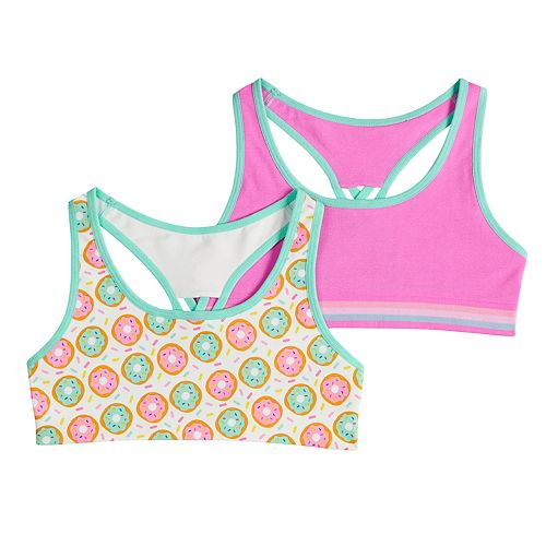 Girls 7-16 Mush 2-pack Donuts Seamless Sports Bras