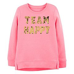 Girls 4-12 OshKosh B'gosh® 'Team Happy' Flip-Sequin Sweatshirt