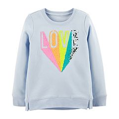 Girls 4-12 OshKosh B'gosh® 'LOVE' Flip-Sequin Sweatshirt