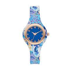 Women's Floral Rubber Watch