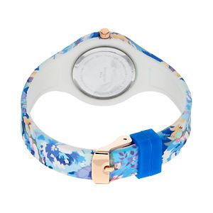 Women's Floral Rubber Watch