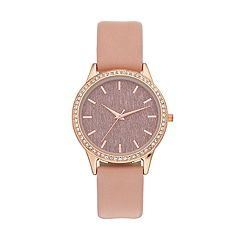 Women's Glitter Dial Crystal Accent Watch