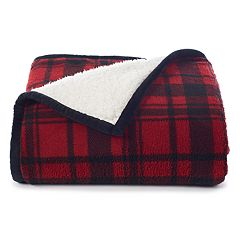 Cuddl Duds Plush Sherpa Fleece Throw