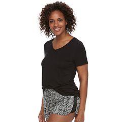 Women's Apt. 9® Satin Trim Tee & Shorts Pajama Set