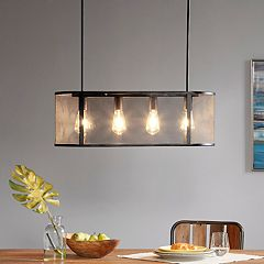 INK+IVY Hopkins 4-Light Industrial Chandelier