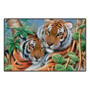 Brumlow Mills Tiger Tiger Wildlife Printed Rug