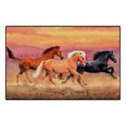 Brumlow Mills Running Free Horses Printed Rug