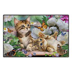 Brumlow Mills Playtime Kittens Printed Rug