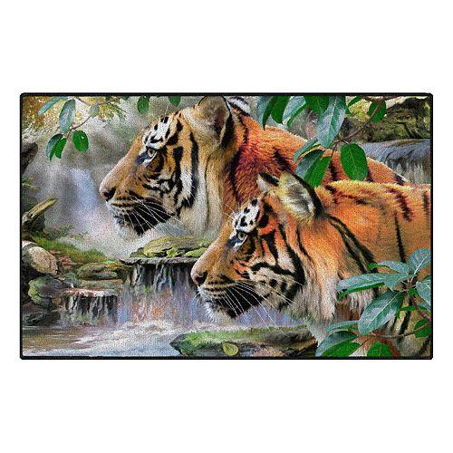 Brumlow Mills Early Riser Tigers Printed Rug