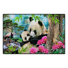 Brumlow Mills Morning Pandas Printed Rug
