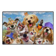 Brumlow Mills Selfie Summer Fun Pets Printed Rug