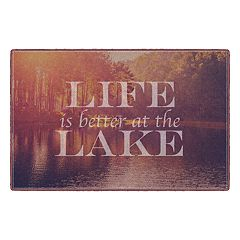 Brumlow Mills Life is Better at the Lake Landscape Printed Rug