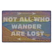 Brumlow Mills Not All Who Wander Mountain Landscape Printed Rug