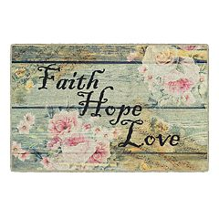 Brumlow Mills Faith, Hope, Love Printed Rug
