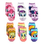 Girls 4-6x My Little Pony 6-pack No-Show Socks