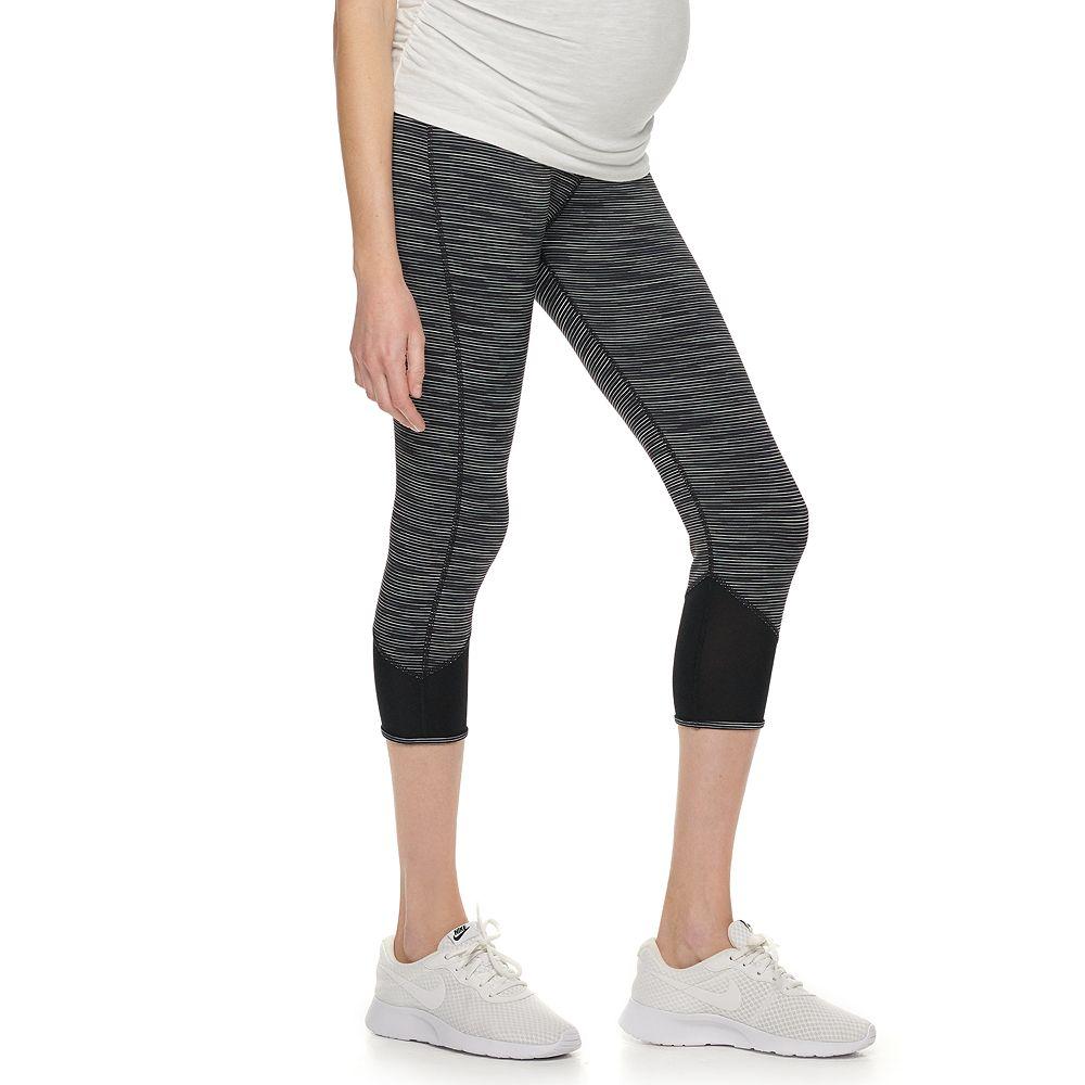 Maternity a:glow™ Mesh Performance Workout Capri Leggings