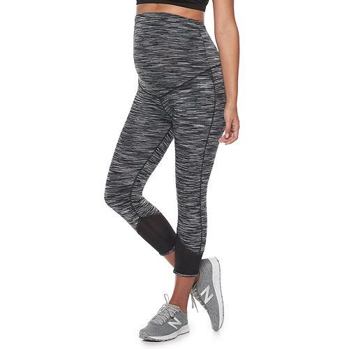 Maternity a:glow Mesh Performance Workout Capri Leggings