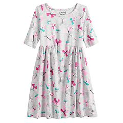 Girls 4-10 Jumping Beans® Print Shirred-Waist Dress