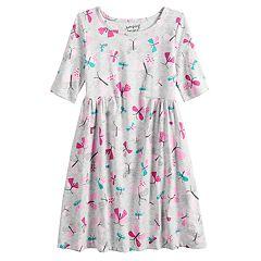 Girls 4-10 Jumping Beans® Print Shirred-Waist Dress