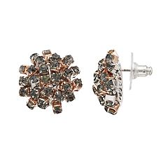 Simply Vera Vera Wang Gray Simulated Crystal Cluster Stud Earrings