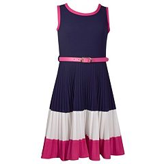 Girls 7-16 Bonnie Jean Pleated Colorblock Dress