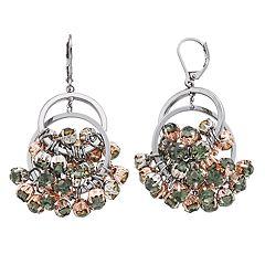 Simply Vera Vera Wang Simulated Crystal Cluster Circle Drop Earrings