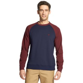 Men's IZOD Advantage SportFlex Performance Colorblock Stretch Fleece Raglan Sweatshirt