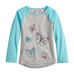 Girls 4-10 Jumping Beans® Hi-Low Raglan Tee