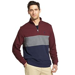 Men's IZOD Advantage SportFlex Performance Colorblock Stretch Quarter-Zip Pullover