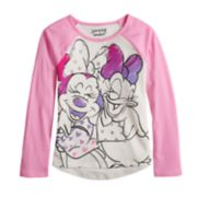 Disney's Minnie Mouse & Daisy Duck Girls 4-10 Hi-Low Raglan Tee by Jumping Beans®
