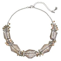 Simply Vera Vera Wang Faceted Stones & Simulated Crystal Two Tone Necklace