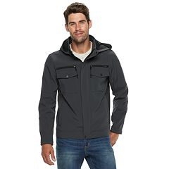 Men's Urban Republic Softshell Hooded Moto Jacket