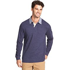 Men's IZOD Saltwater Blues Rugby Polo