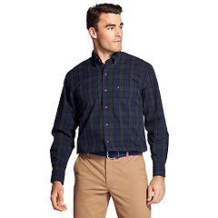 Men's IZOD Classic-Fit Tartan Plaid Poplin Button-Down Shirt