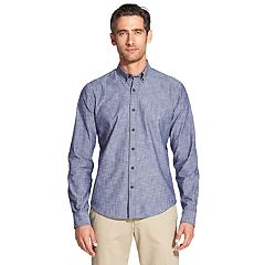Men's IZOD Saltwater Blues Slim-Fit Button-Down Shirt