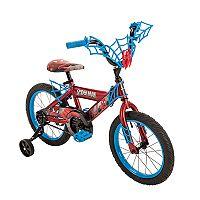Kids Huffy Marvel Spider-Man 16-Inch Bike with WebTrap Handlebar Plaque