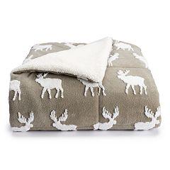 Cuddl Duds Jacquard Sherpa Comforter