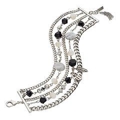 Simply Vera Vera Wang Bead & Charm Multi Strand Bracelet