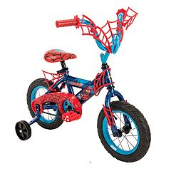 Kids Huffy Marvel Spider-Man 12-Inch Bike with WebTrap Handlebar Plaque