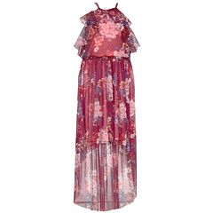 Girls 7-16 Bonnie Jean Sleeveless Ruffled Floral Print Maxi Dress