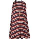 Girls 7-16 Bonnie Jean Sleeveless Striped Dress with Necklace