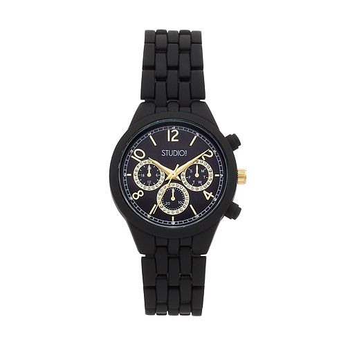Studio Time Women's Crystal Accent Watch