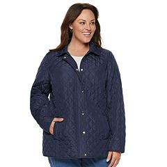 Plus Size Croft & Barrow® Snap Front Quilted Jacket