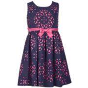 Girls 7-16 Bonnie Jean Sleeveless Laser Cutout Dress