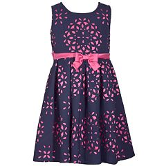 Girls 7-16 Bonnie Jean Sleeveless Laser Cutout Dress