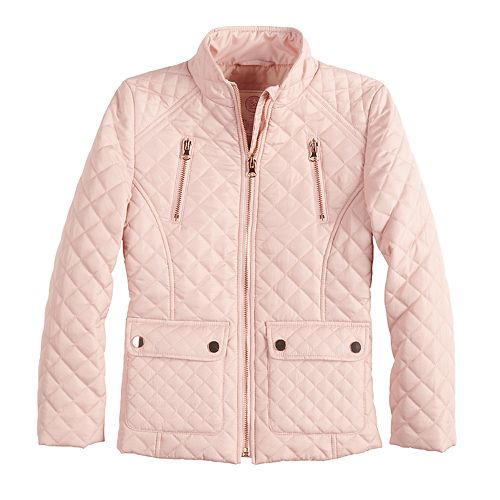 64458dc7500d Girls 4-16 SO® Quilted Lightweight Barn Jacket