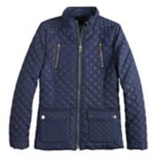 Girls 4-16 SO® Quilted Lightweight Barn Jacket