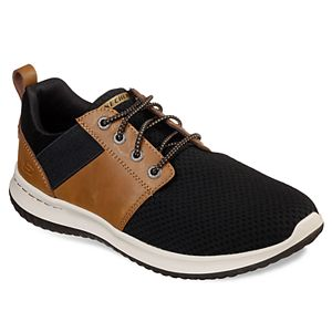 Details about Skechers Men's Classic Fit Delson Camben Sneakers, Black Grey, Pick Size,
