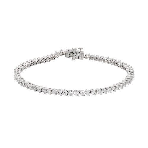 10k White Gold 4 Carat T.W. Diamond Tennis Bracelet
